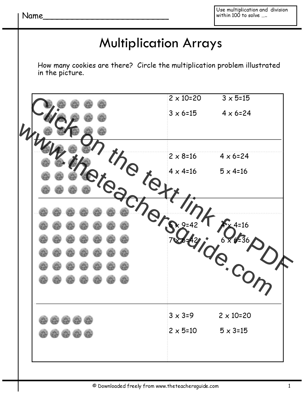 Worksheet What Is Multiplication In Math multiplication array worksheets from the teachers guide arrays worksheet
