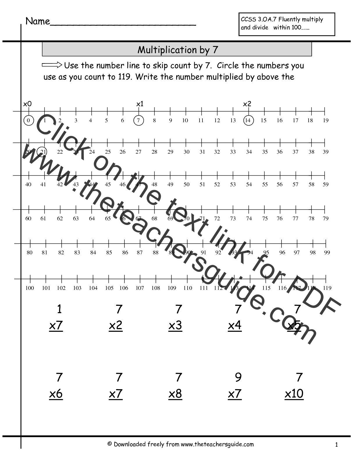 Multiplication Facts Worksheets from The Teachers Guide – Multiplication Doubles Worksheet