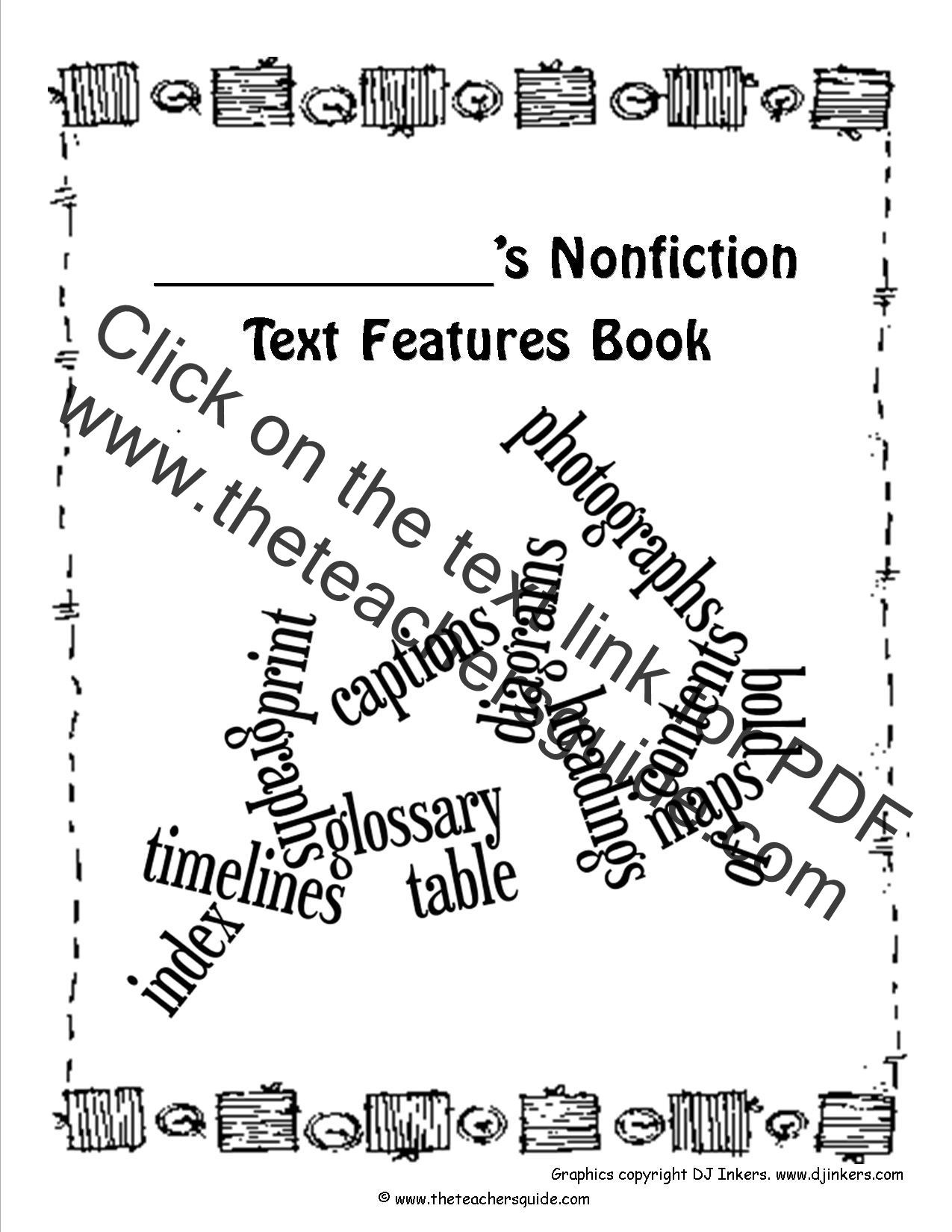 Nonfiction Text Features – Nonfiction Text Features Worksheets