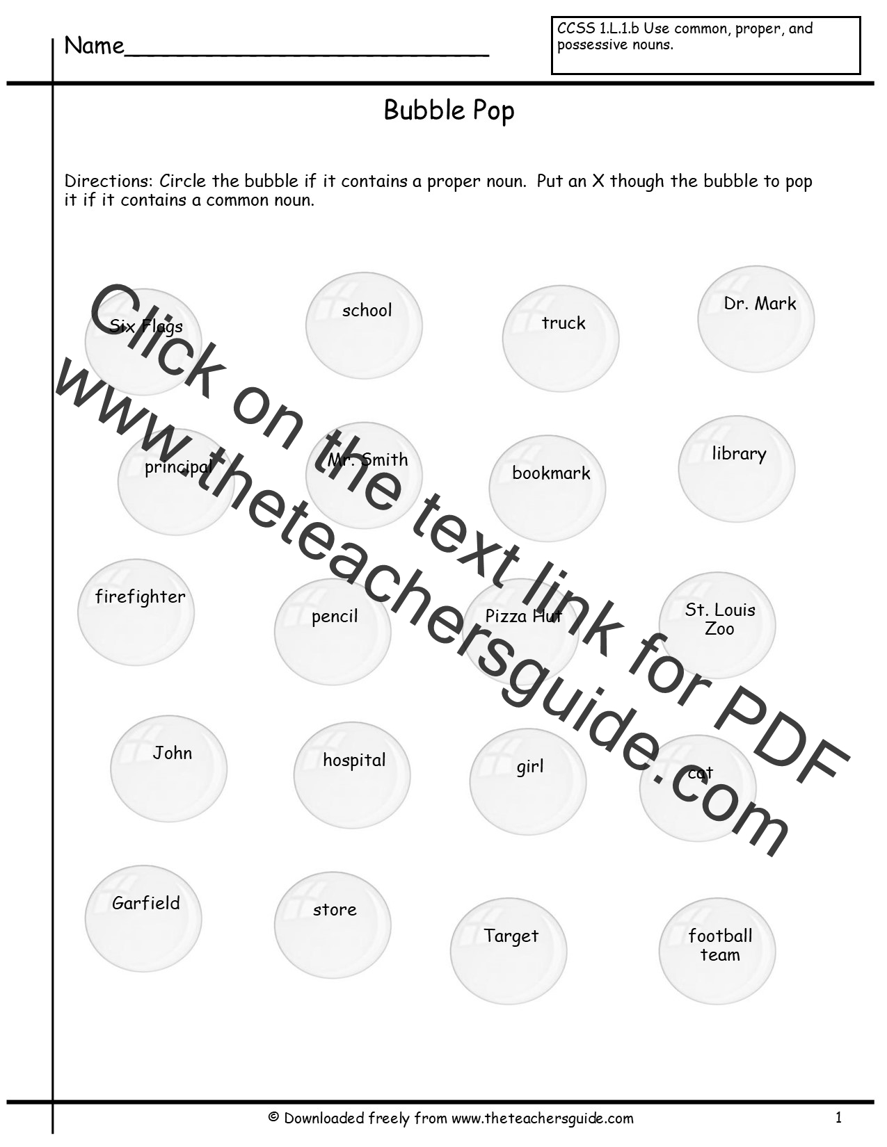 Worksheet Easy Noun Worksheets common and proper nouns worksheets from the teachers guide worksheet