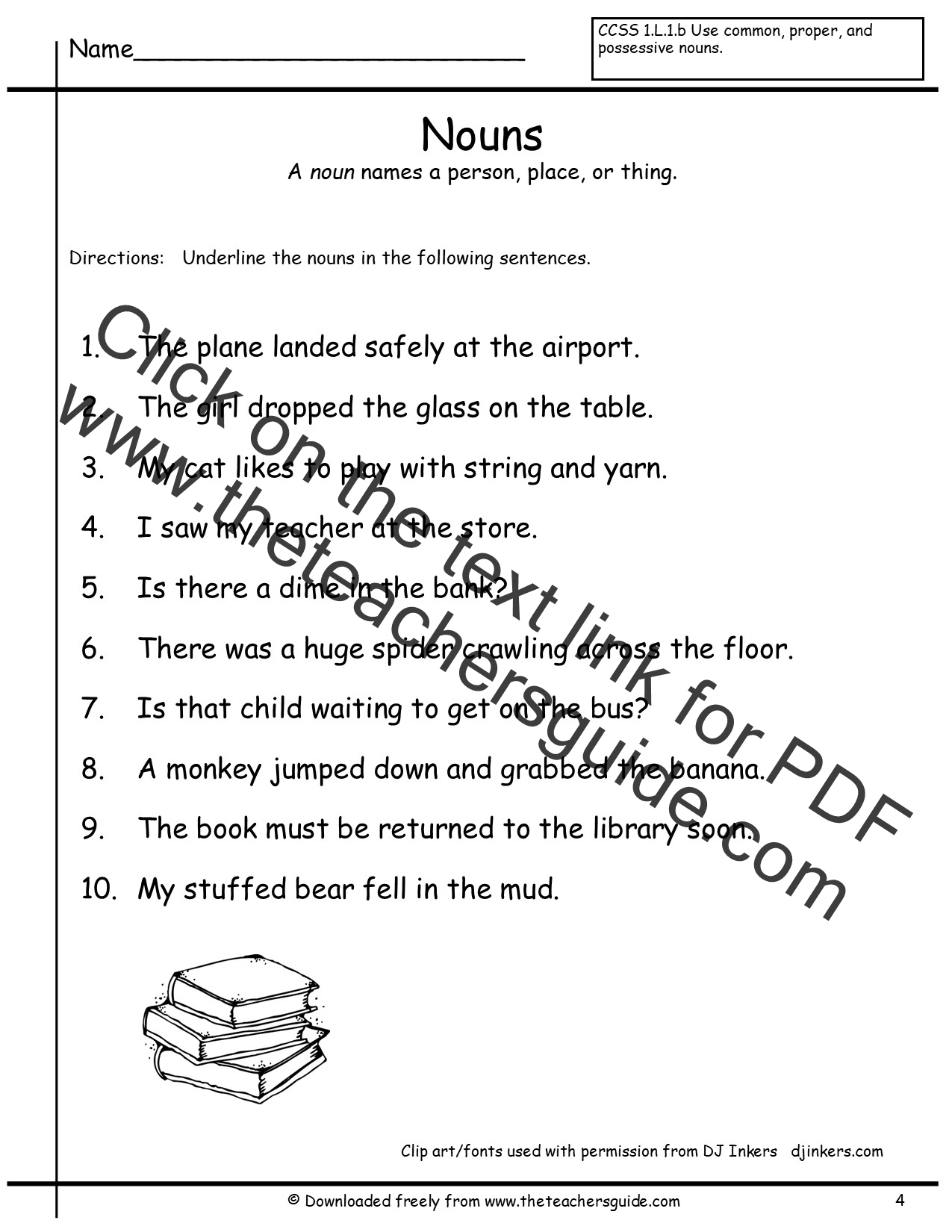 Nouns Worksheets from The Teachers Guide – Nouns Worksheets