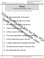 nouns worksheet