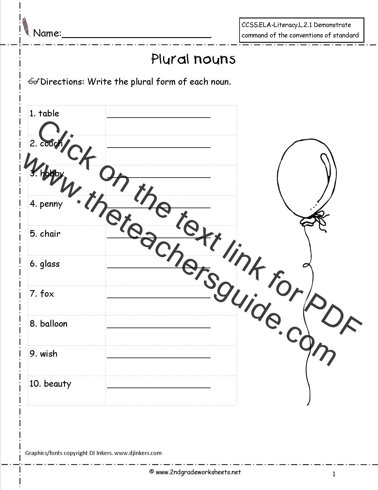 Worksheet Quiz On Singular And Plural Nouns singular and plural nouns worksheets from the teachers guide worksheet