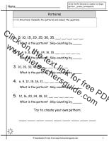 number pattern worksheet