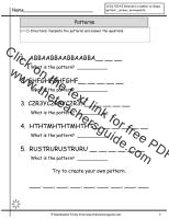 letter pattern worksheet