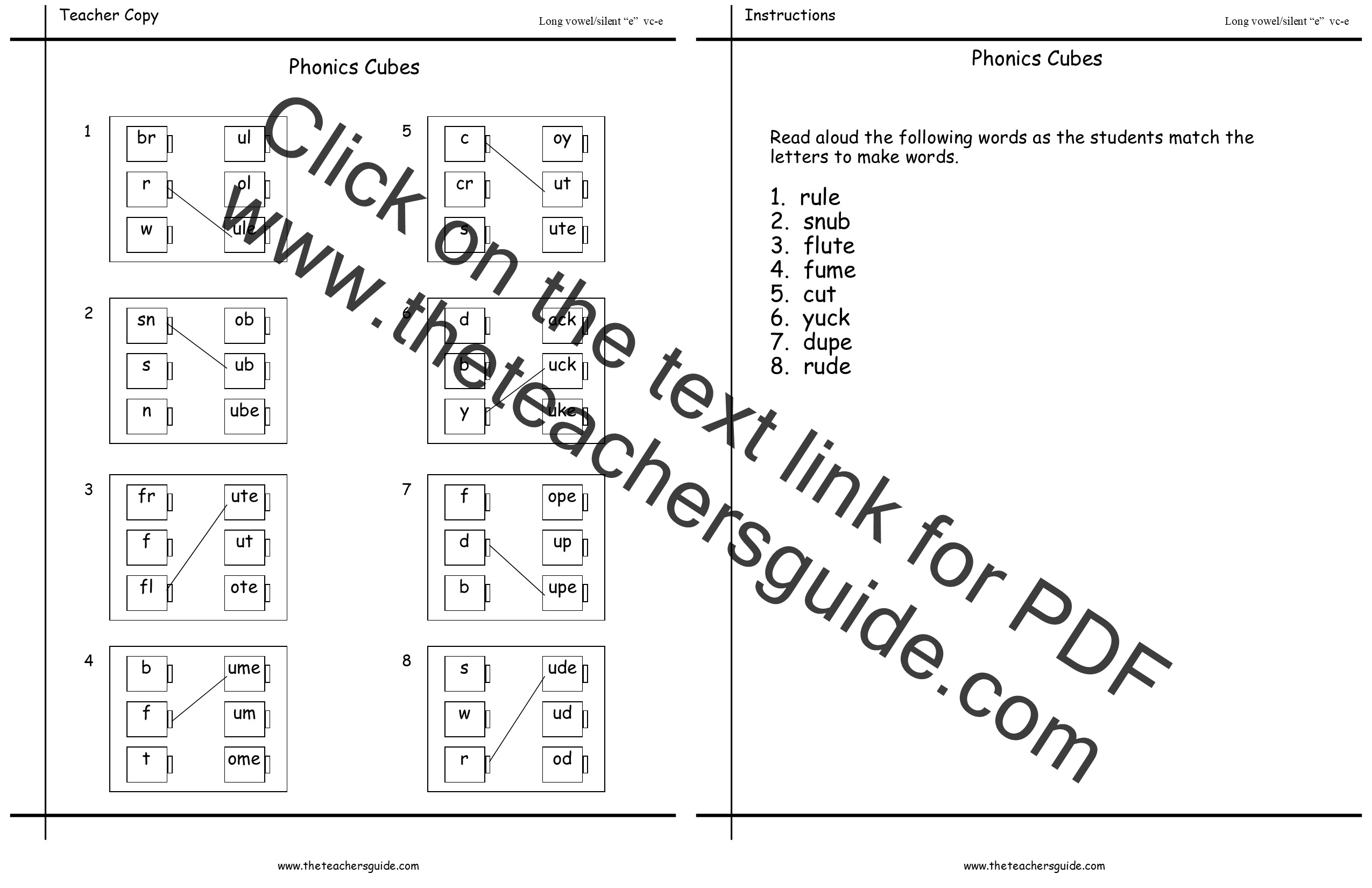 worksheet Long E Worksheet free phonics printouts from the teachers guide flashcards