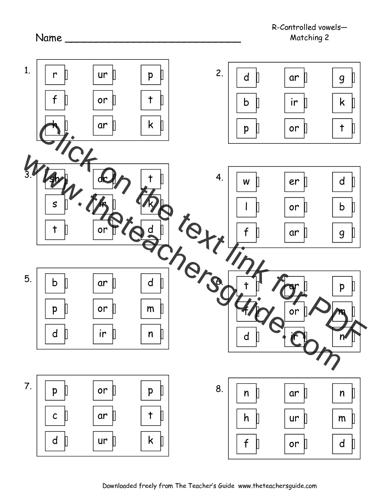 Phonics Vowels Worksheets : Free phonics printouts from the teacher s guide
