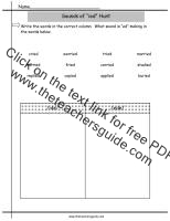 sounds of ied worksheet
