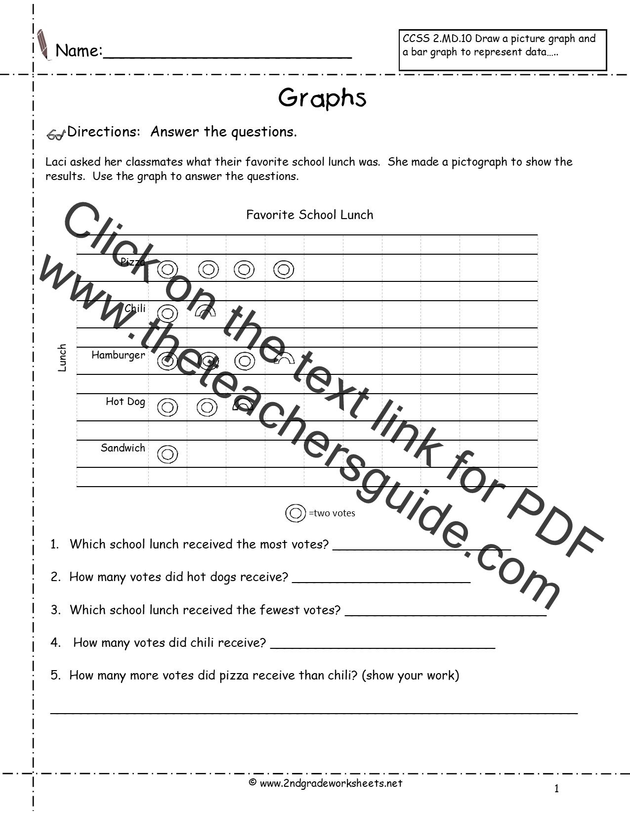 worksheet Pictograph Worksheet reading and creating pictographs worksheets from the teachers guide favorite school lunch pictograph