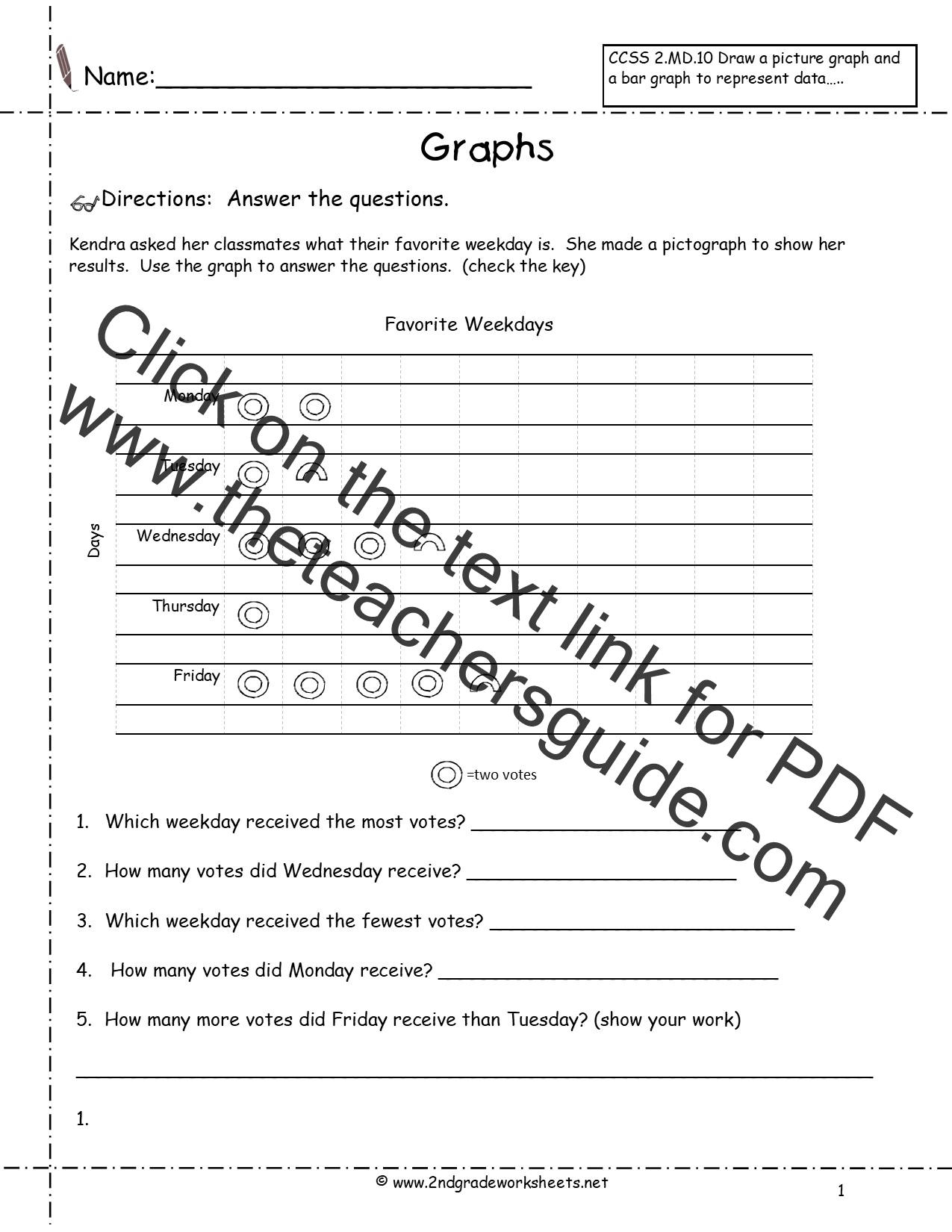 Reading and Creating Pictographs Worksheets from The Teacher's Guide