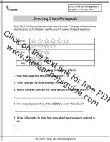 shooting stars pictograph worksheet