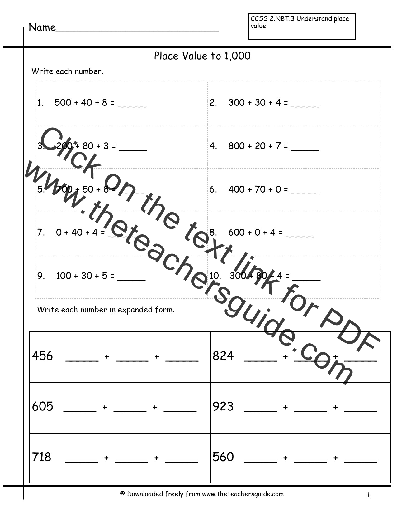 Expanded Form Worksheets Virallyapp Printables Worksheets – Expanded Form Worksheets