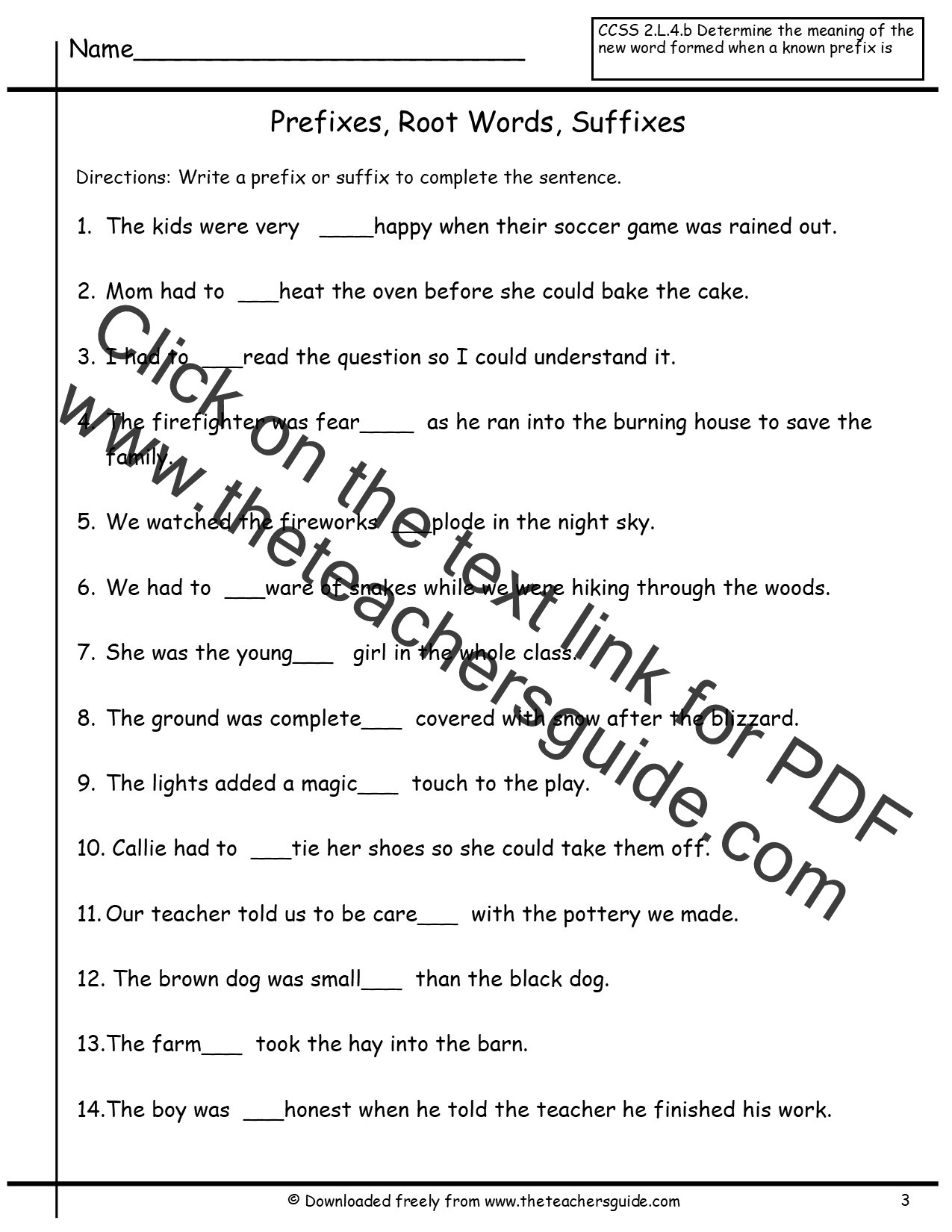 Worksheet Suffixes Worksheets free prefixes and suffixes worksheets from the teachers guide worksheet