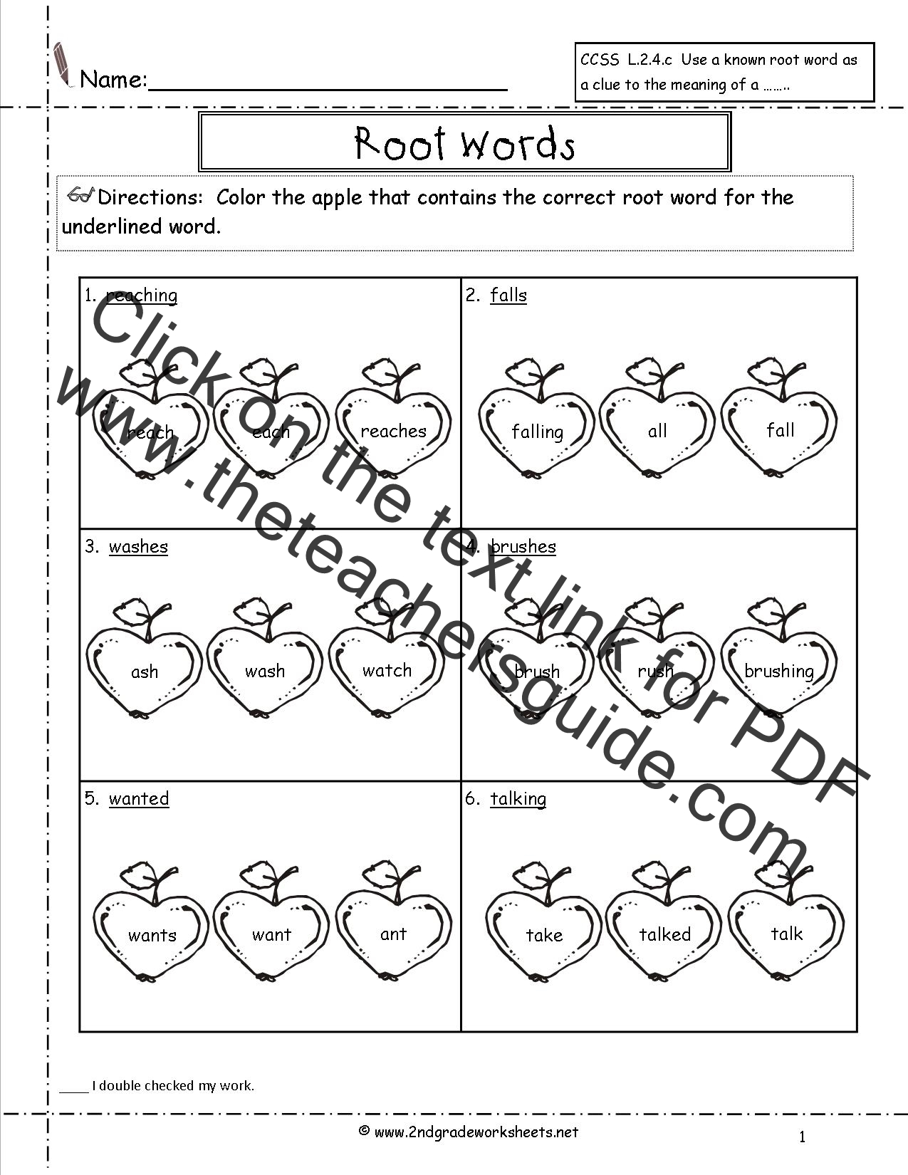 Wonders Second Grade Unit Four Week Four Printouts – Root Words Worksheets
