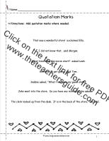quotation marks worksheet