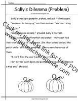 sally's problem worksheet