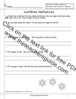 combine sentences worksheet