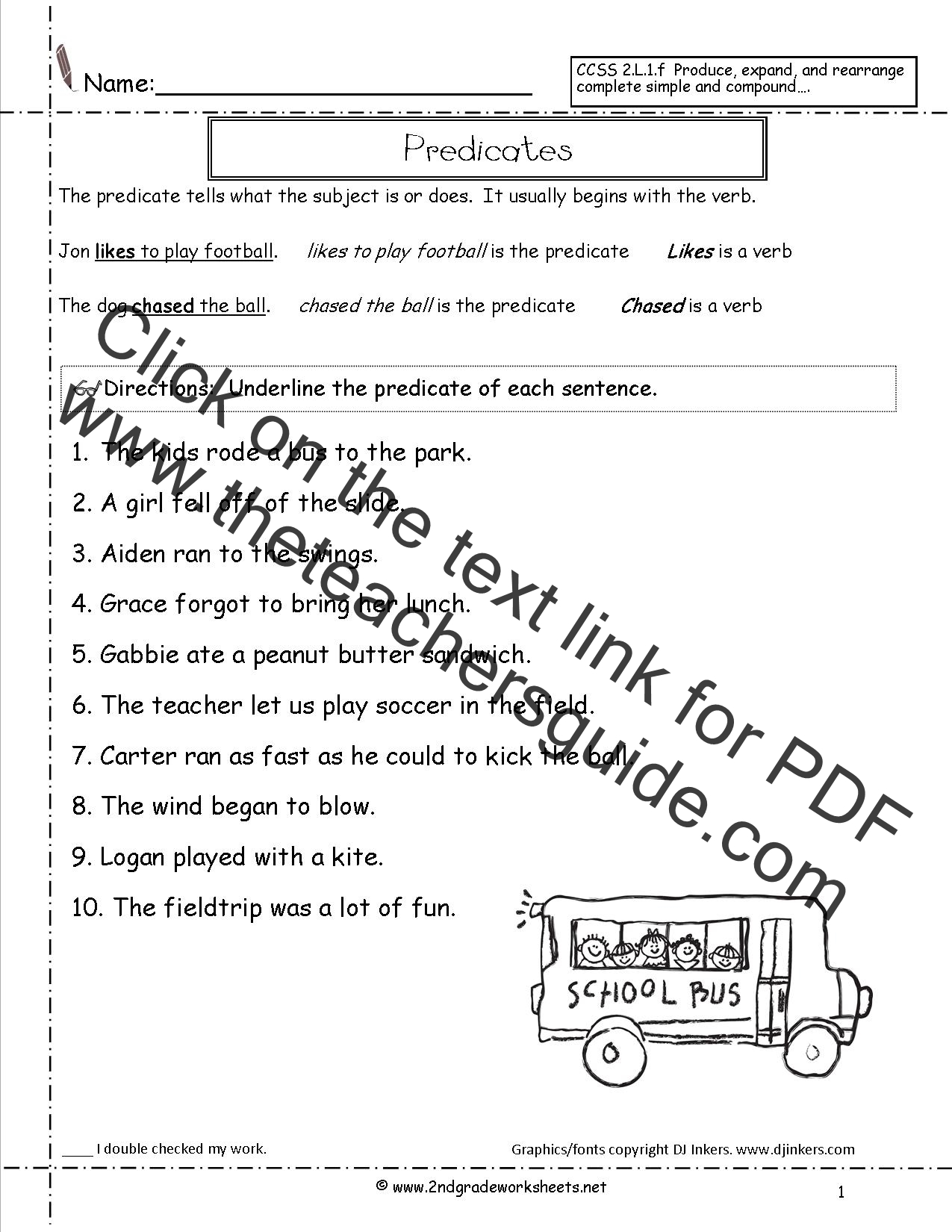 Printables Subject And Predicate Worksheet sentences worksheets from the teachers guide sentence worksheet predicates