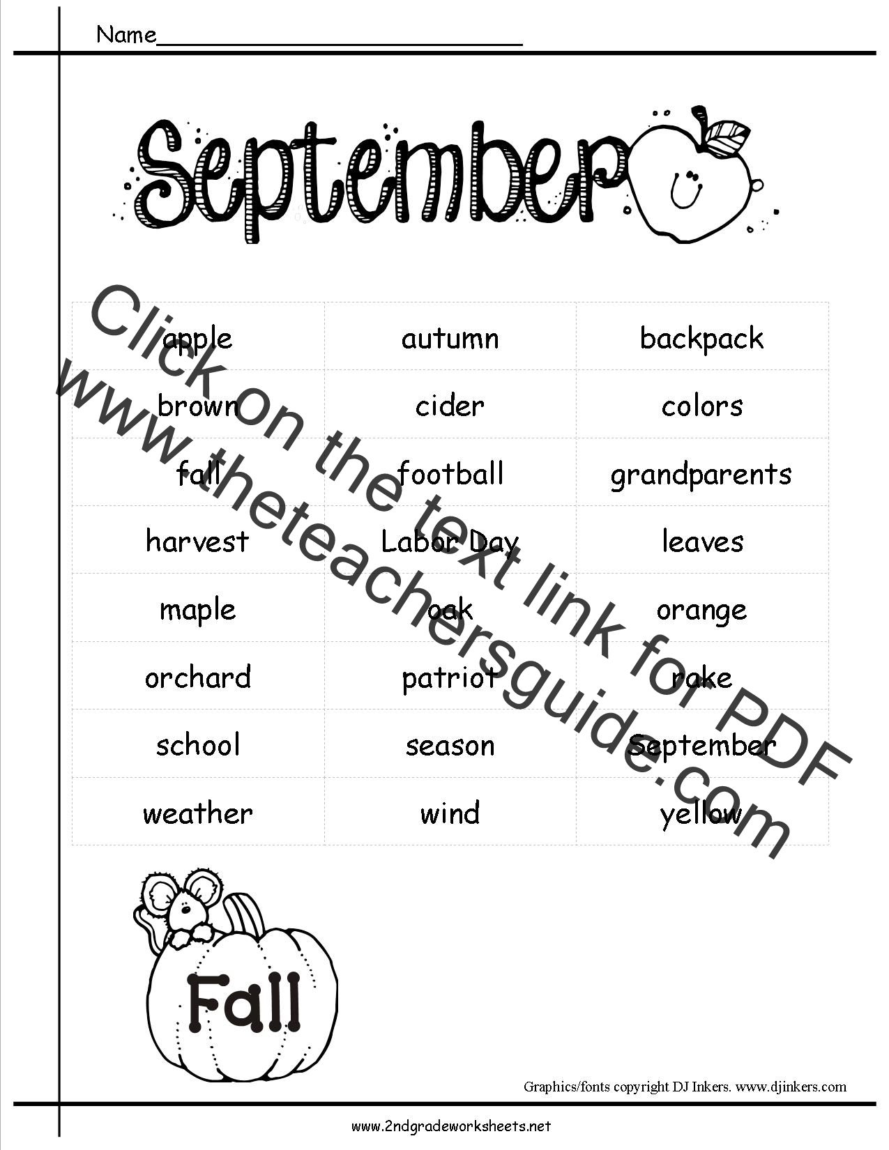 september holidays  themes  lesson plans  printouts  and crafts