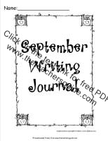 september writing journal printout
