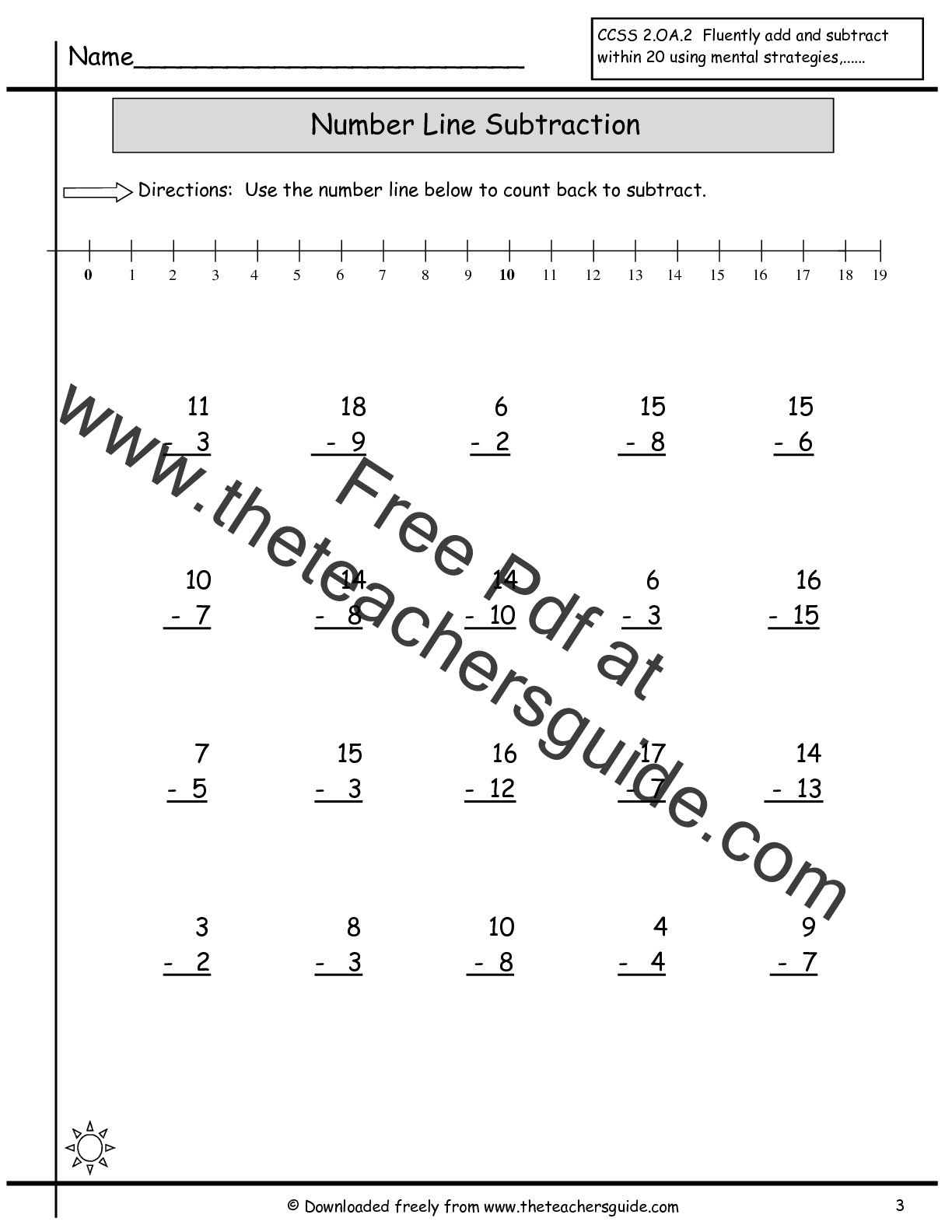 Single Digit Addition Worksheets from The Teachers Guide – Basic Subtraction Facts Worksheets