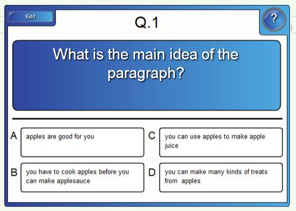 Main Idea Smartboard Reading Templates