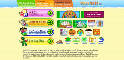 interactive reading sites