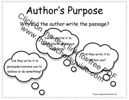 authors purpose card