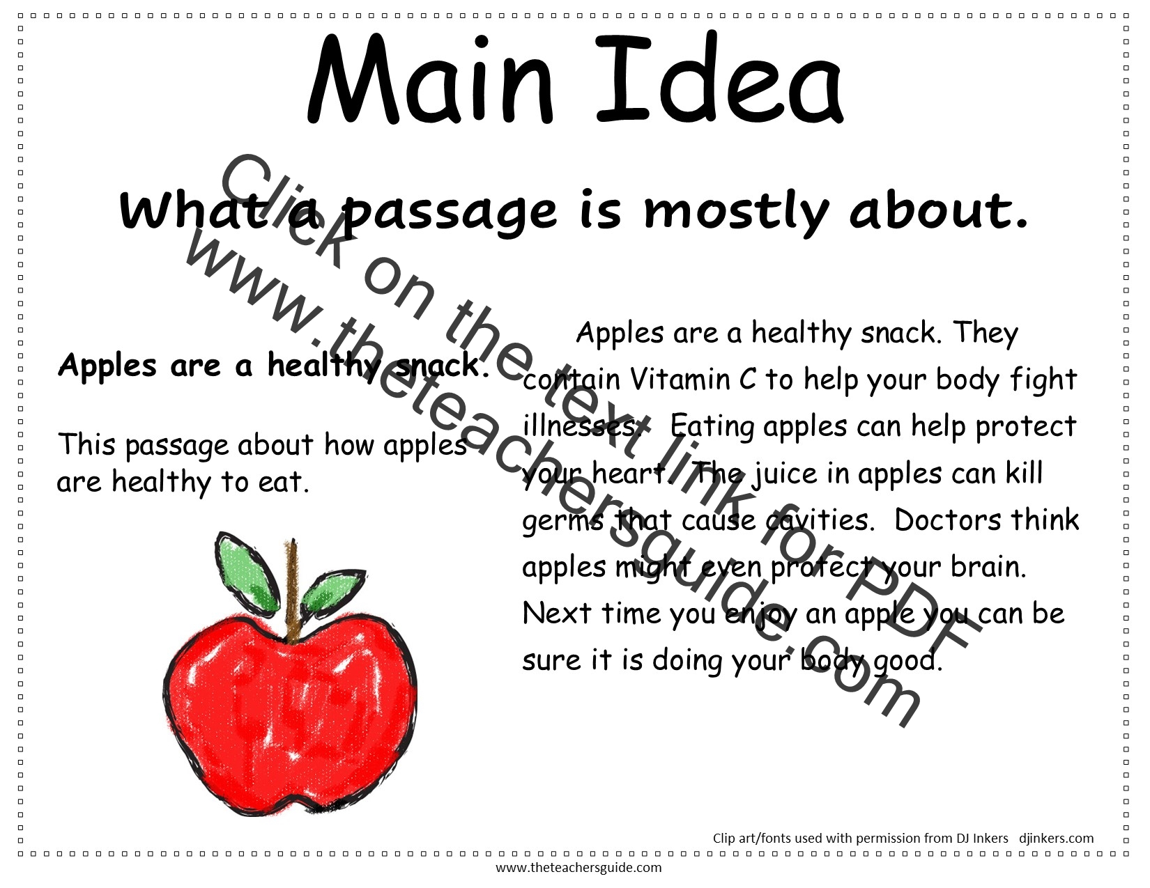 Reading Comprehension and Story Elements Printable Cards from The ...