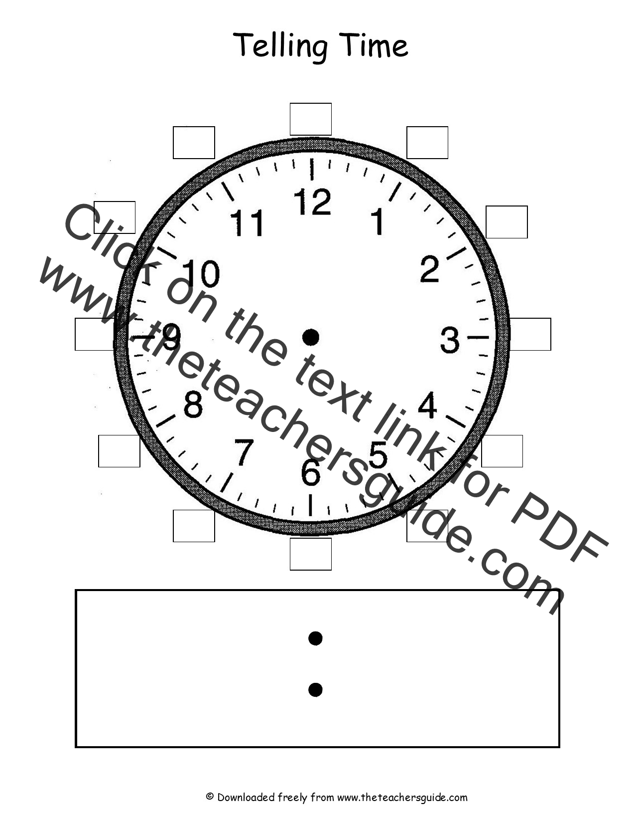 Worksheet Teaching Time Clock telling time worksheets from the teachers guide dry erase clock face