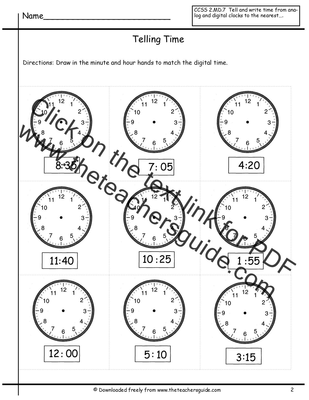 Clock Math Worksheets – Math Worksheets Telling Time