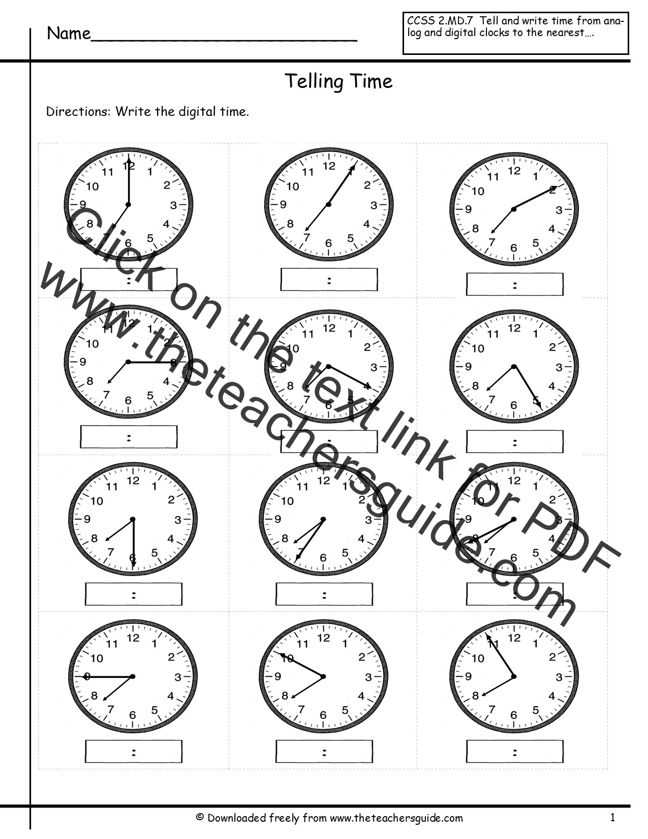 Worksheets Time Telling Worksheets telling time worksheets from the teachers guide worksheets