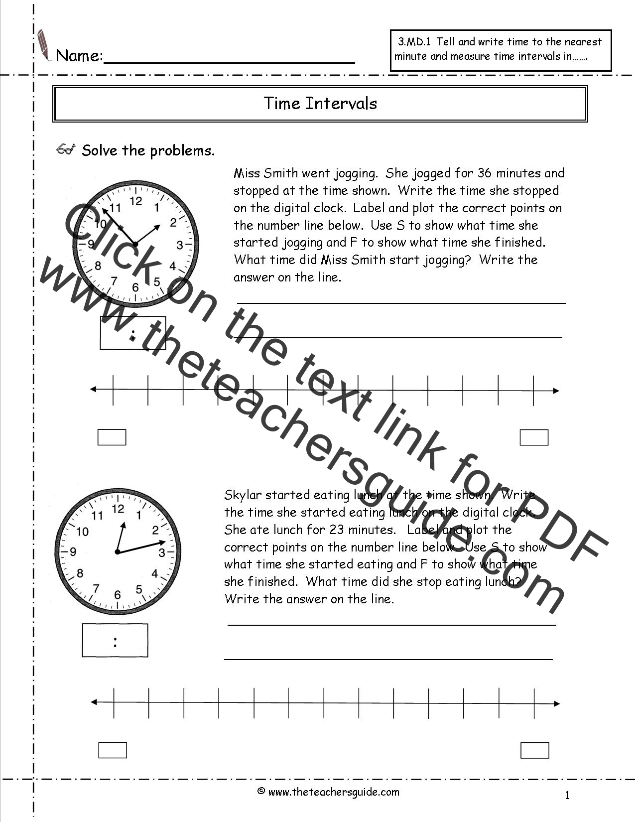 telling time worksheets from the teacher 39 s guide. Black Bedroom Furniture Sets. Home Design Ideas