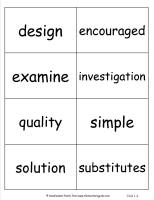 mcgraw hill wonders third grade unit one week four vocabulary student cards