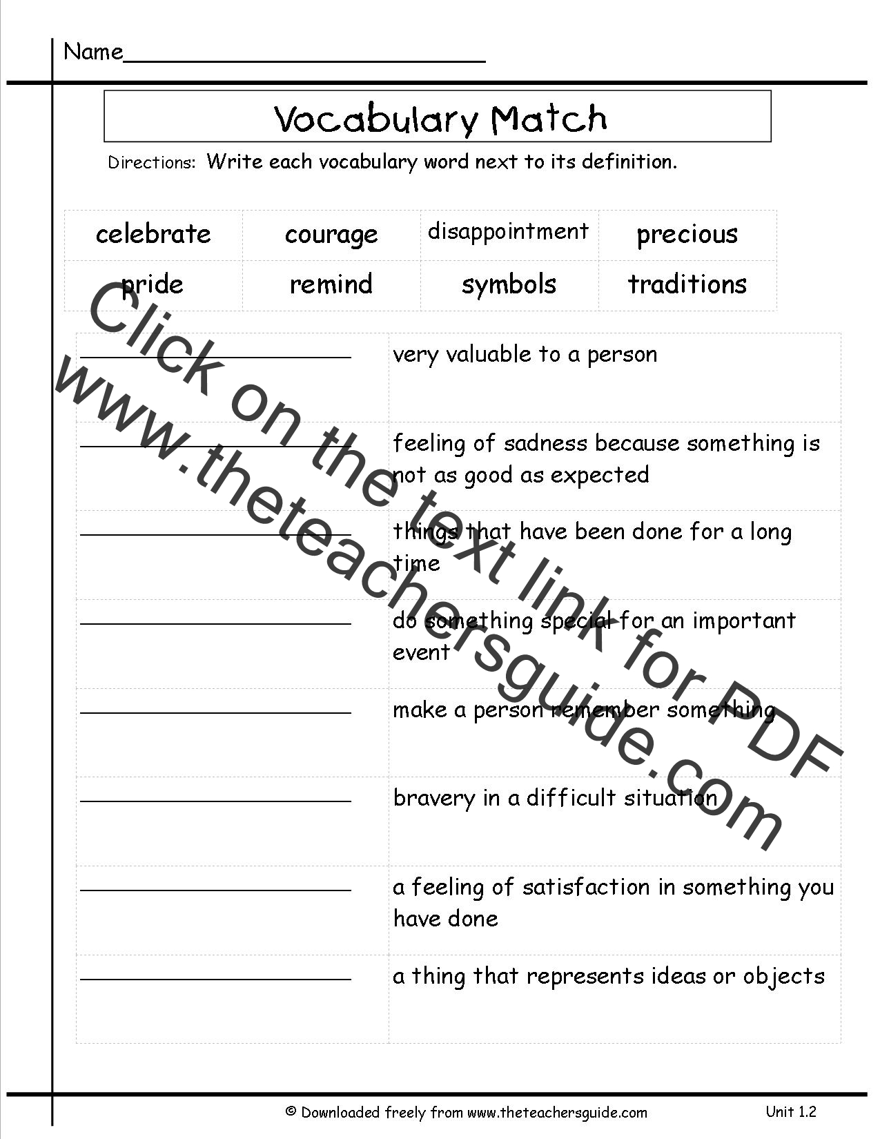 Printables 3rd Grade Vocabulary Worksheets wonders third grade unit one week two printouts mcgraw hill vocabulary words matching