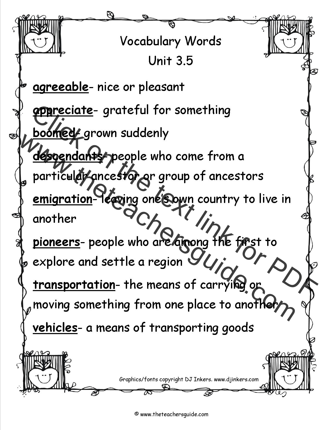 Worksheet Vocabulary For First Grade vocabulary words first grade laptuoso vocab vocabulary