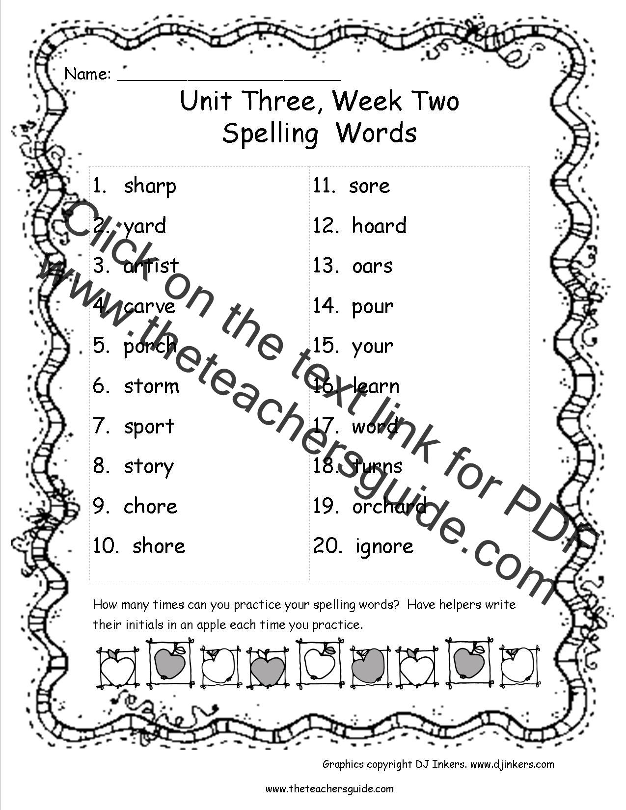 Wonders Third Grade Unit Three Week Two Printouts