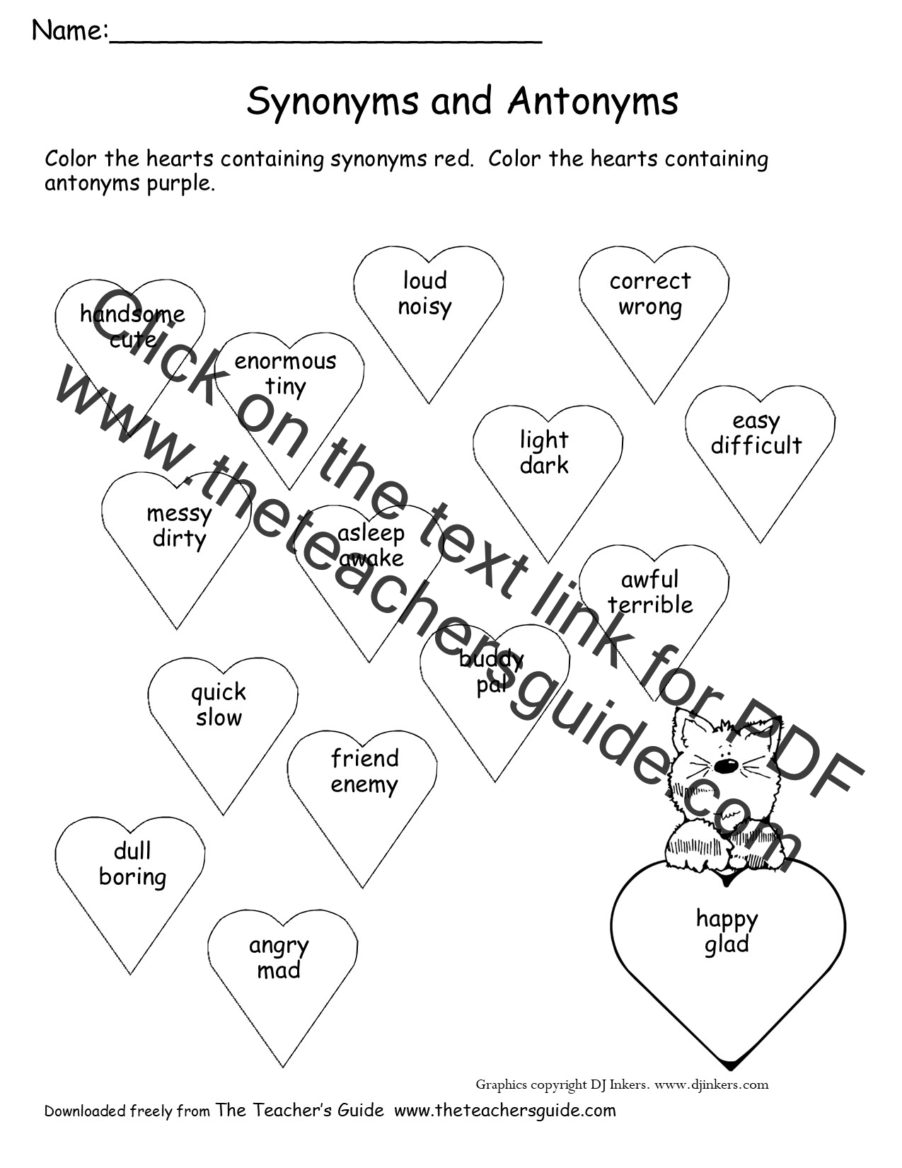 Teaching Synonyms And Antonyms Lawteched – Synonym and Antonym Worksheet