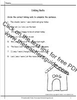 linking verbs worksheet - Termolak