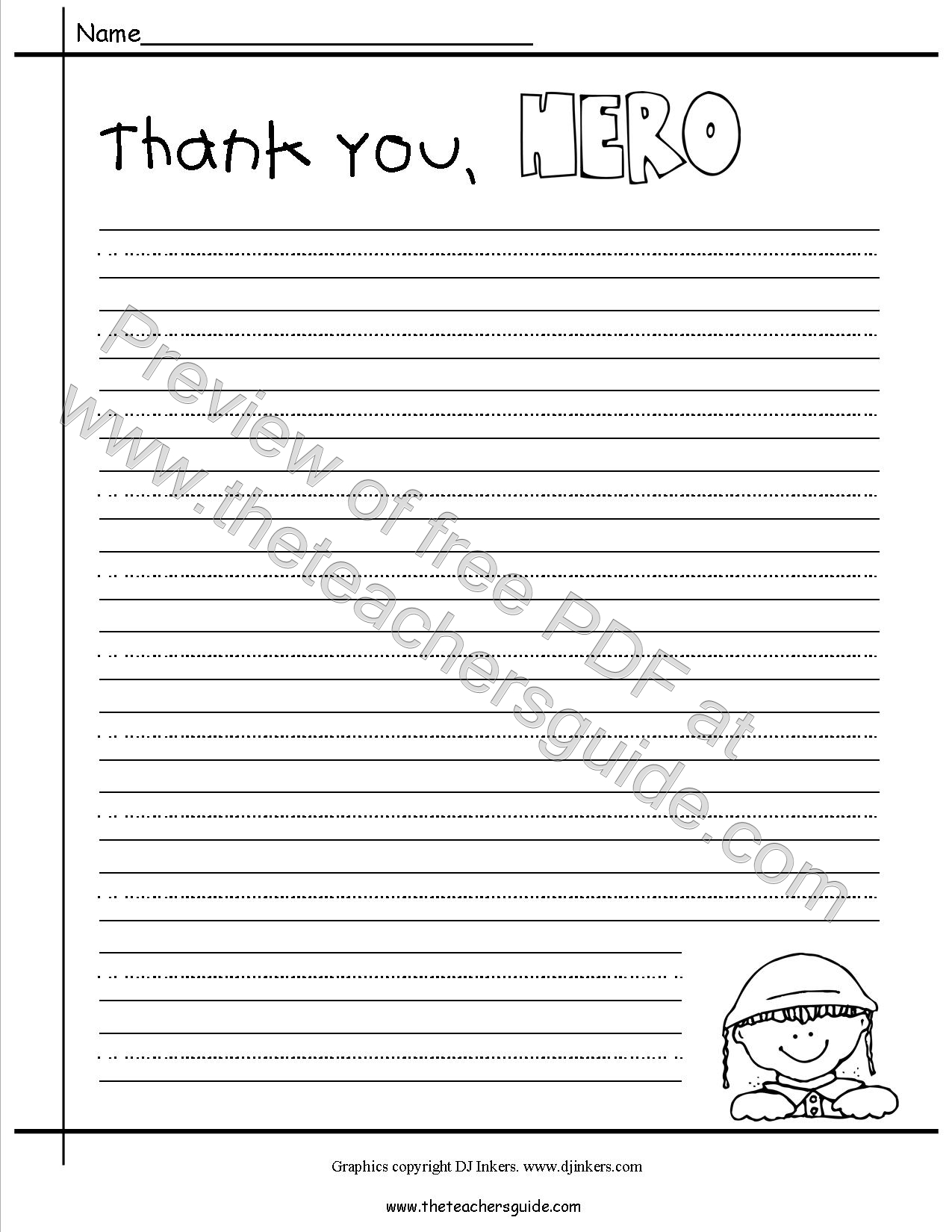 Printables Veterans Day Worksheets veterans day lesson plans themes printouts crafts thank you hero writing paper