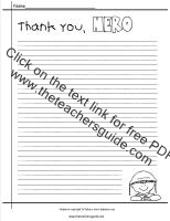 veterans day thank you hero printout
