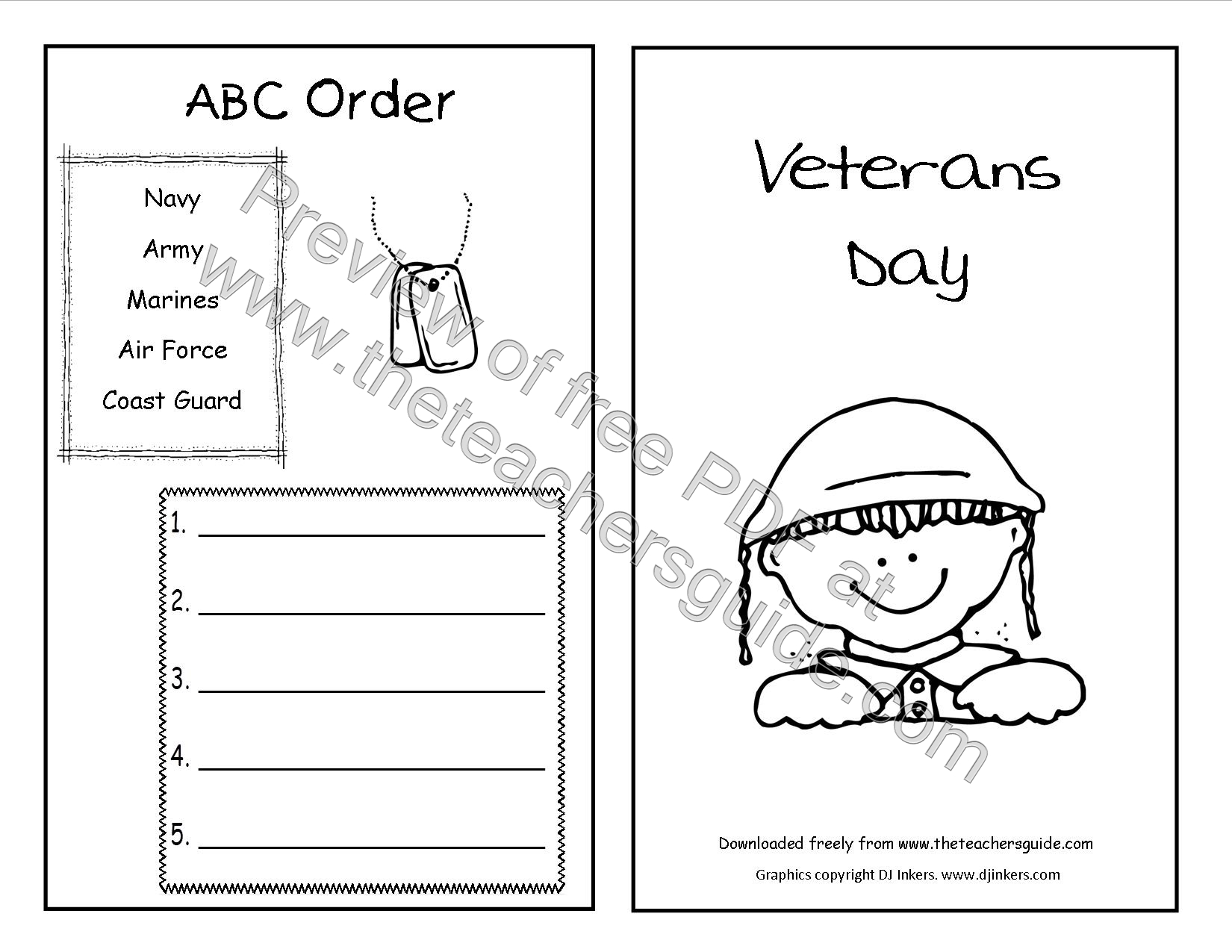 Printables Veterans Day Worksheets veterans day lesson plans themes printouts crafts activity booklet