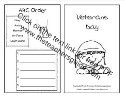 veterans day activity booklet