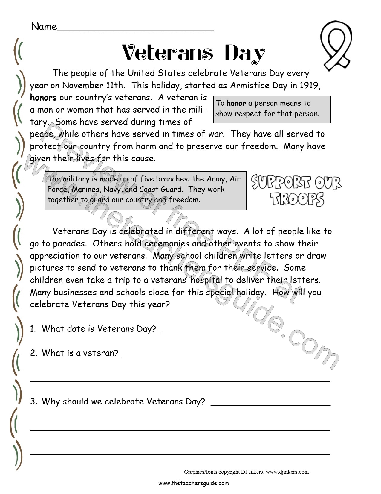 Worksheet 4th Grade Short Stories veterans day lesson plans themes printouts crafts comprehension story