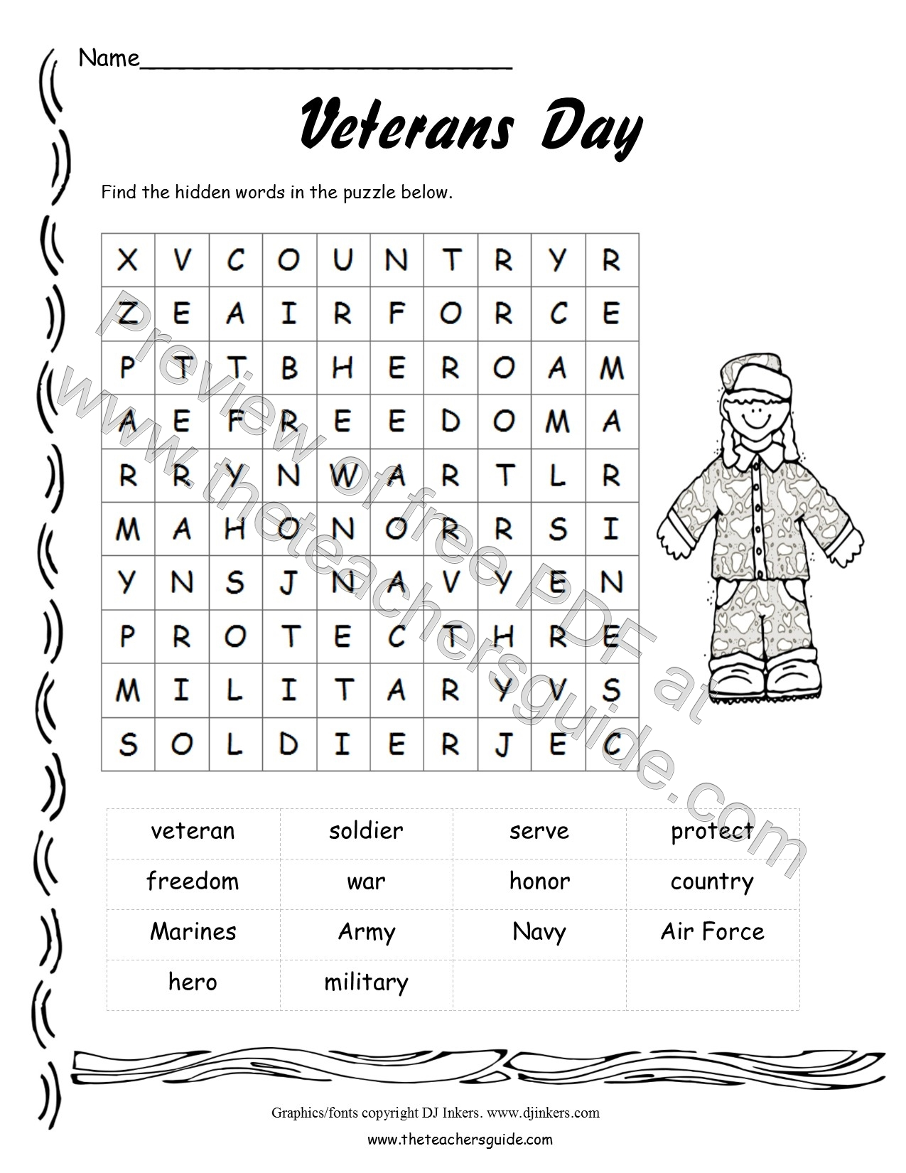 Coloring Pages Veterans Coloring Pages Free veterans day lesson plans themes printouts crafts wordsearch