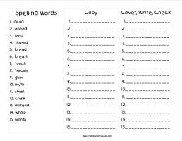 wonders second grade unit five week five printout spelling words cover copy write