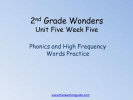 wonders second grade unit five week five printout word practive