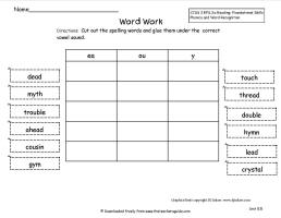 wonders second grade unit five week five printout word sort