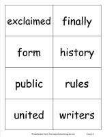 wonders second grade unit five week five printout vocabulary cards
