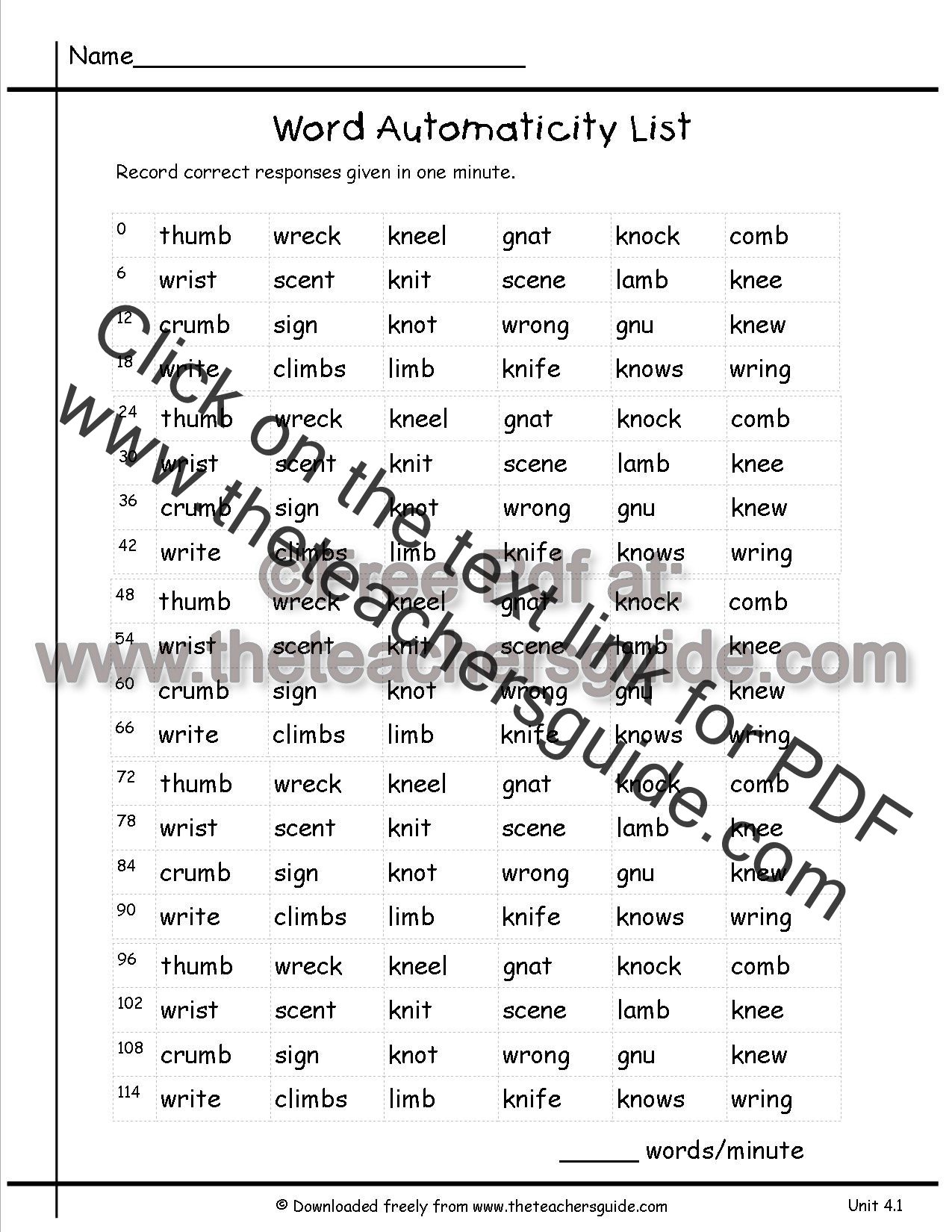 Worksheets Suffix Word List wonders second grade unit four week one printouts automaticity word list